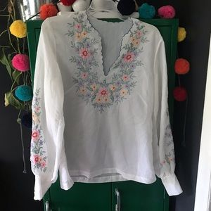 Vintage Hand Embroidered Blouse